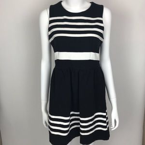 J.Crew Black and White Dress